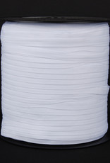 keperband wit 10 mm katoen