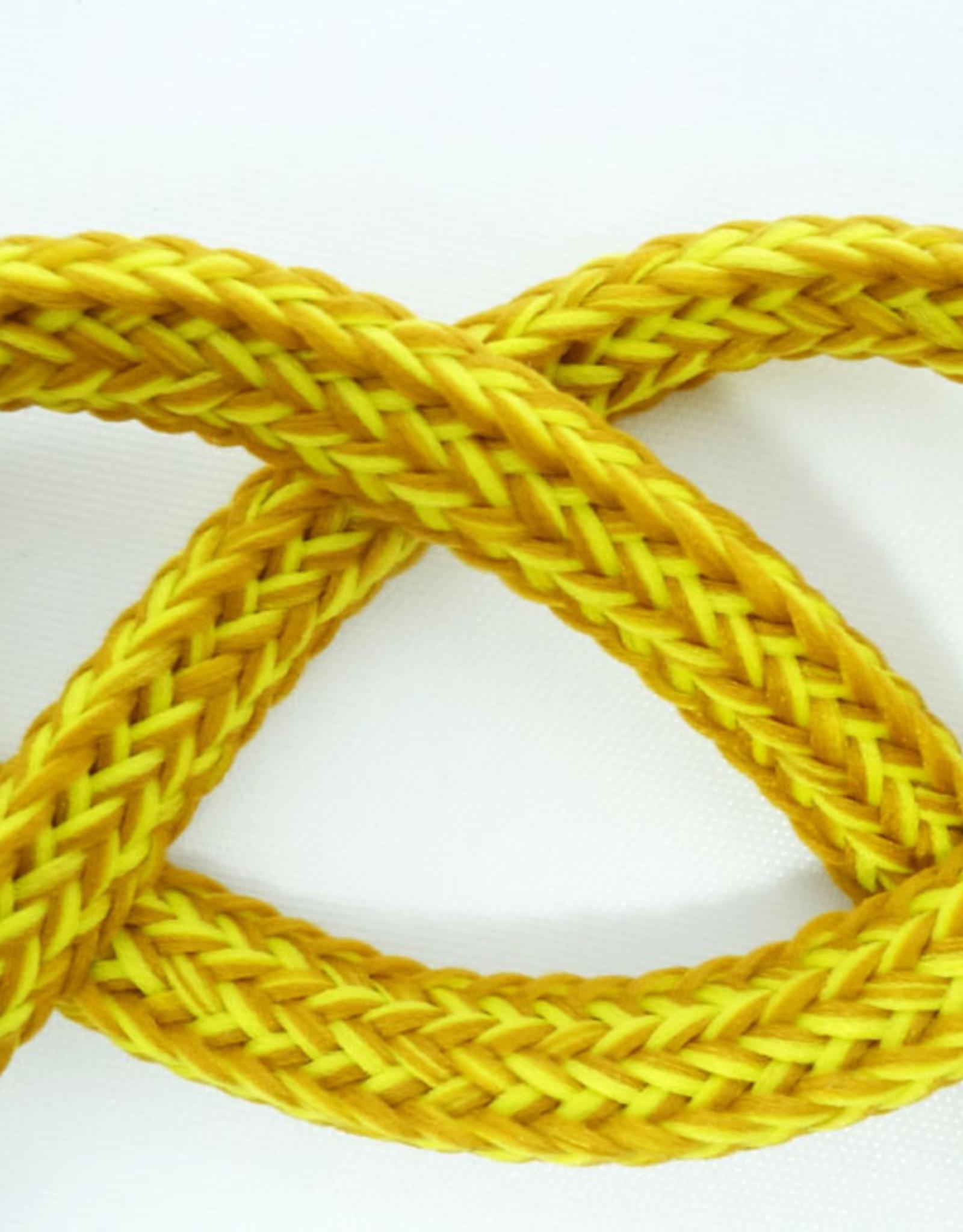 Koord voor Hoodies 8 mm breed melange 002 oker/geel