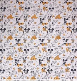 Disney Mickey Mouse en pluto Disney  zwart / wit/ oker