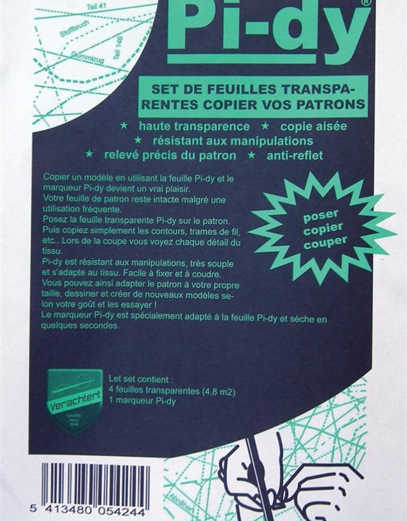 patroonpapier pakket  pi-dy plasticfolie (4 vellen)  + stift