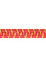 Elastiek met zigzag 25 mm geel-roze