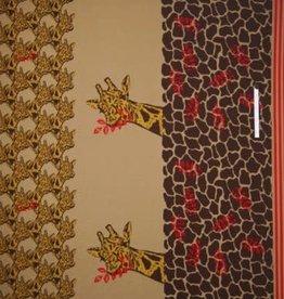 Polytex Polytex Ilja Paneelstof giraf warme sweaterstof