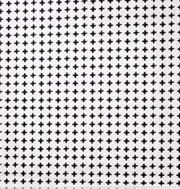 Polytex Polytex Katoen black/white kruisjes