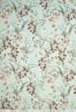 Polytex Polytex Katoen elastisch flower print munt