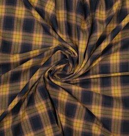 Polytex Polytex Katoen met beetje polyester ruiten zwart/bruinig