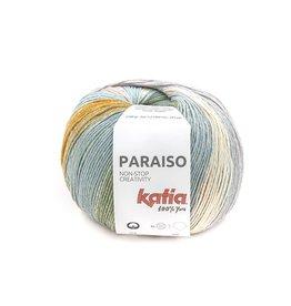 Katia Katia Paraiso 102 - Groen-Waterblauw-Bleekrood