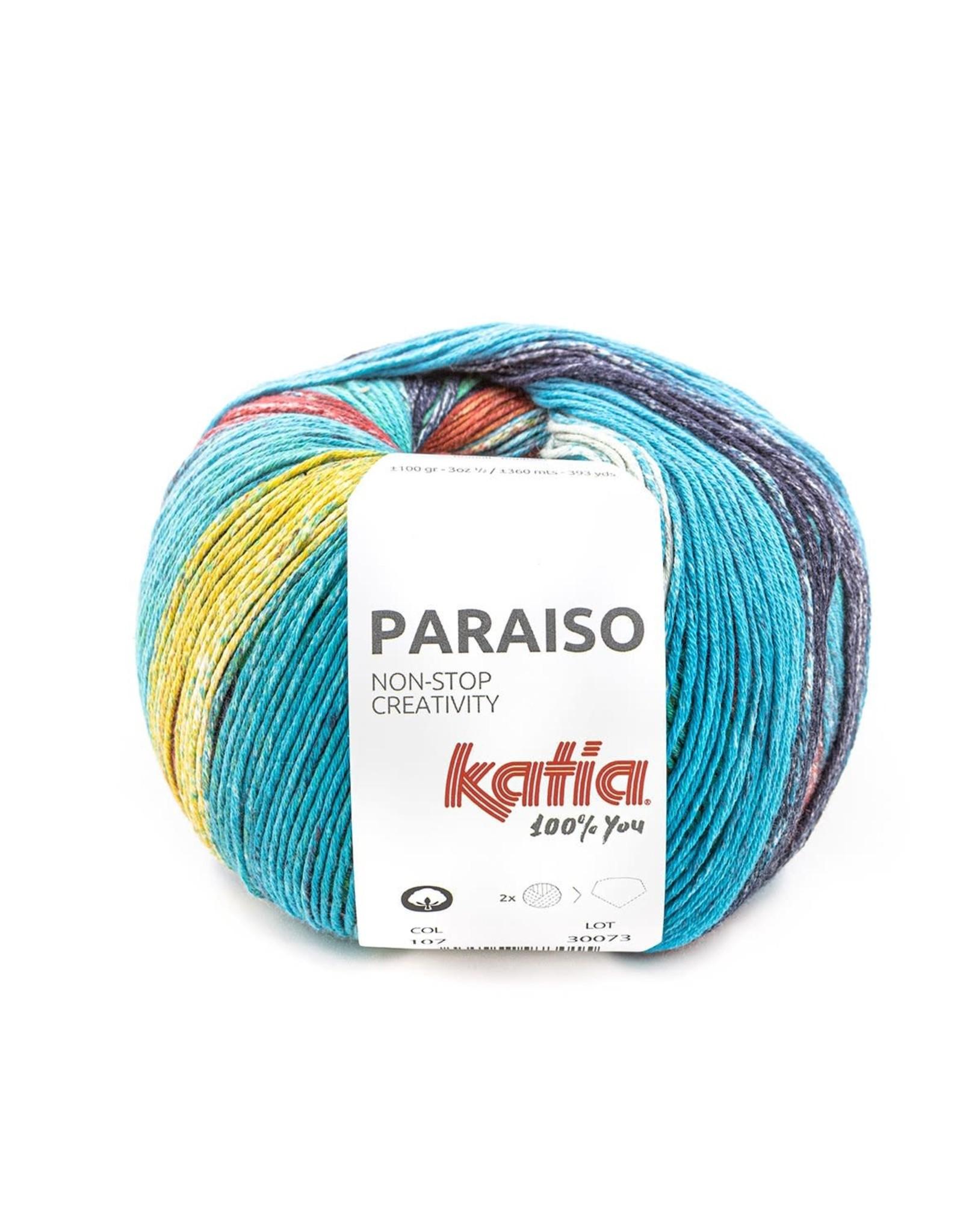 Katia Katia Paraiso 107 - Groen-Blauw-Rood-Geel-Donker blauw