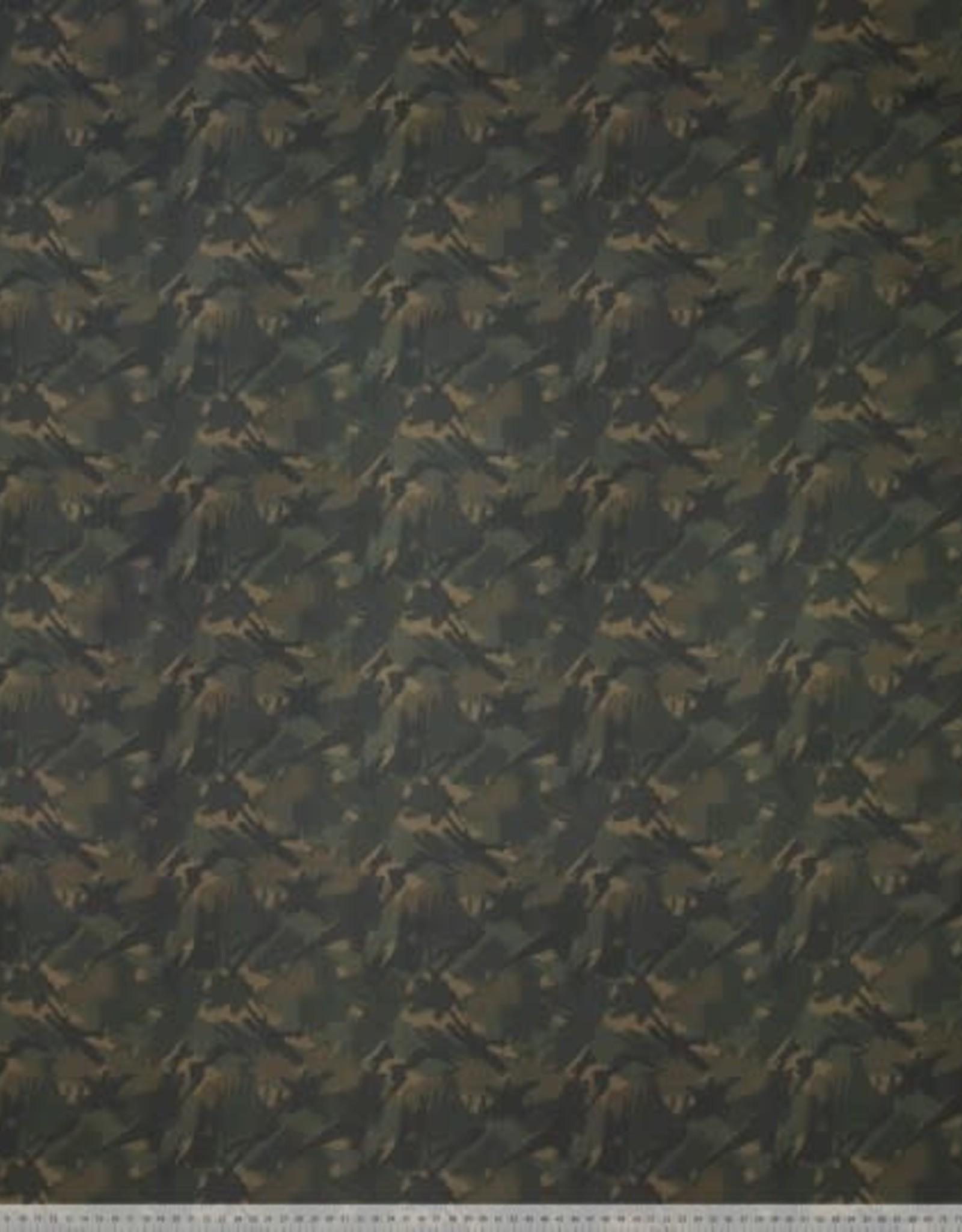 Polytex Polytex viscose camouflage print