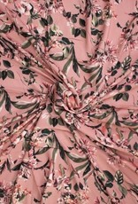 Polytex Polytex viscose flower oud roze