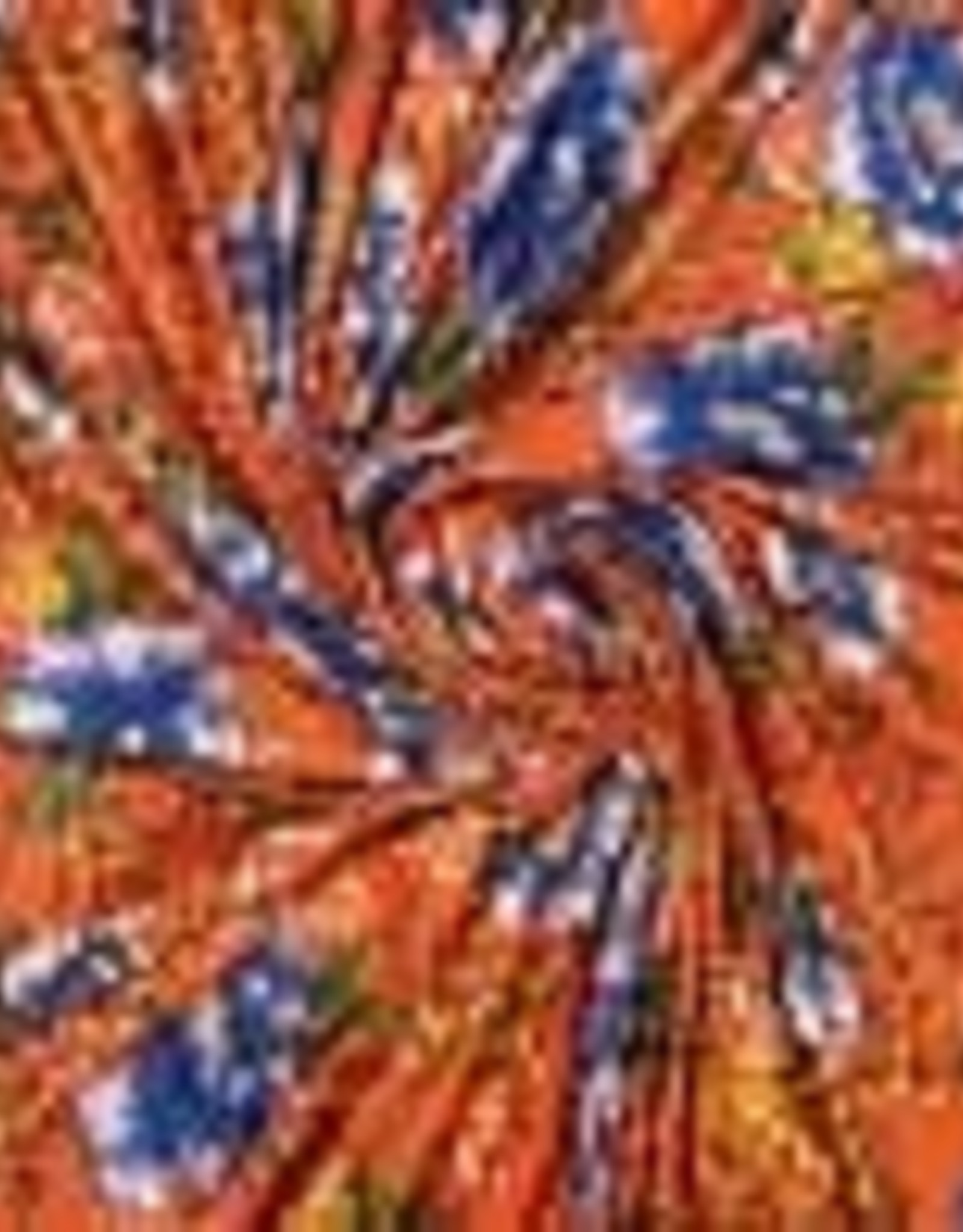 Polytex Polytex viscose jersey flower oranje