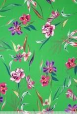Polytex Polytex Woven Viscose flower print groen
