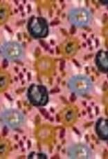 Poppy Poppy Jersey Painted Flowers