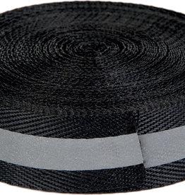 reflecterend lint  zwart met grijs