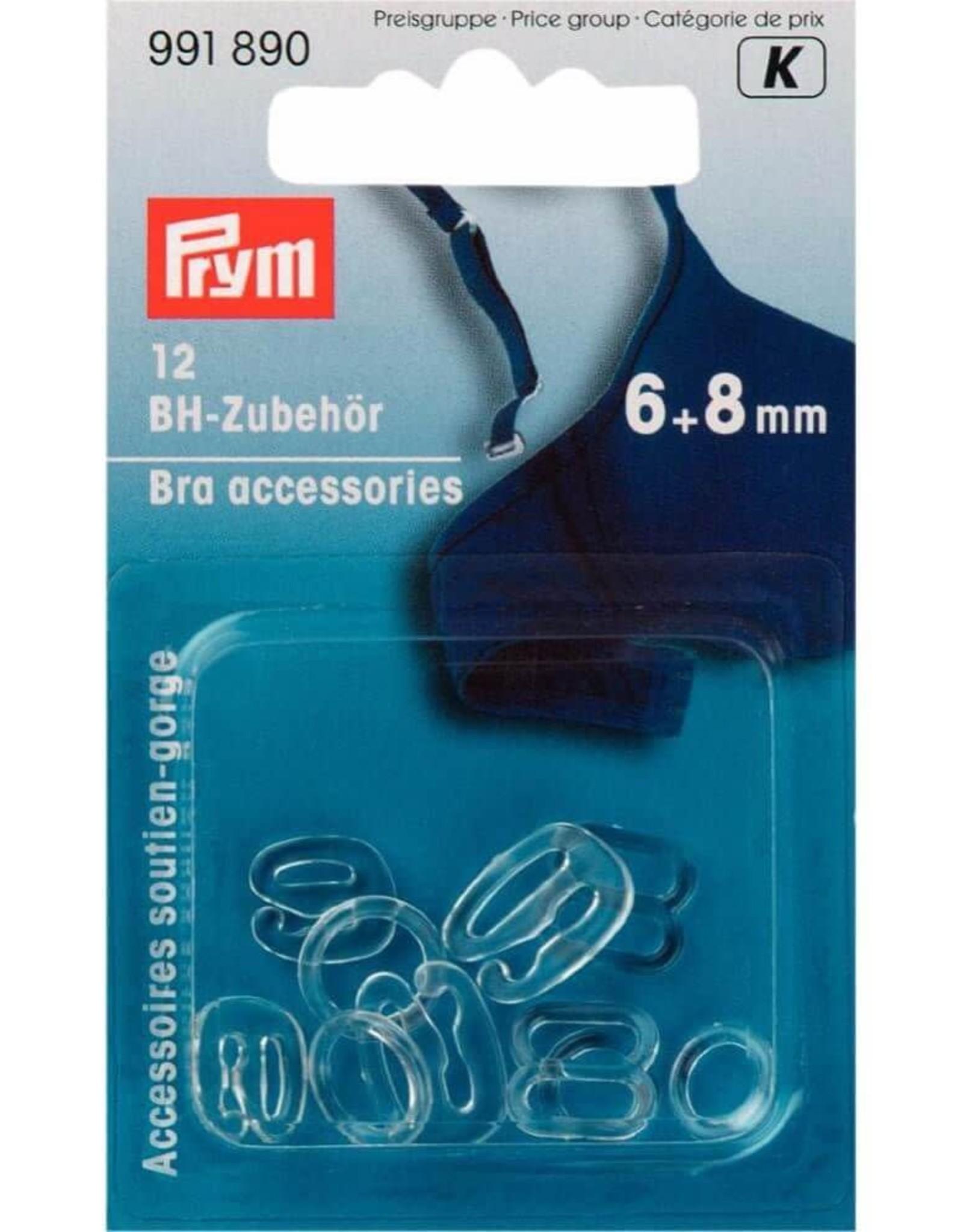 Prym Prym BH-ACCESSOIRES 6+8mm TRANSPARANT (12st)