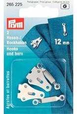 Prym Prym BROEK-EN ROKHAKEN 12mm ZILVER (2st)