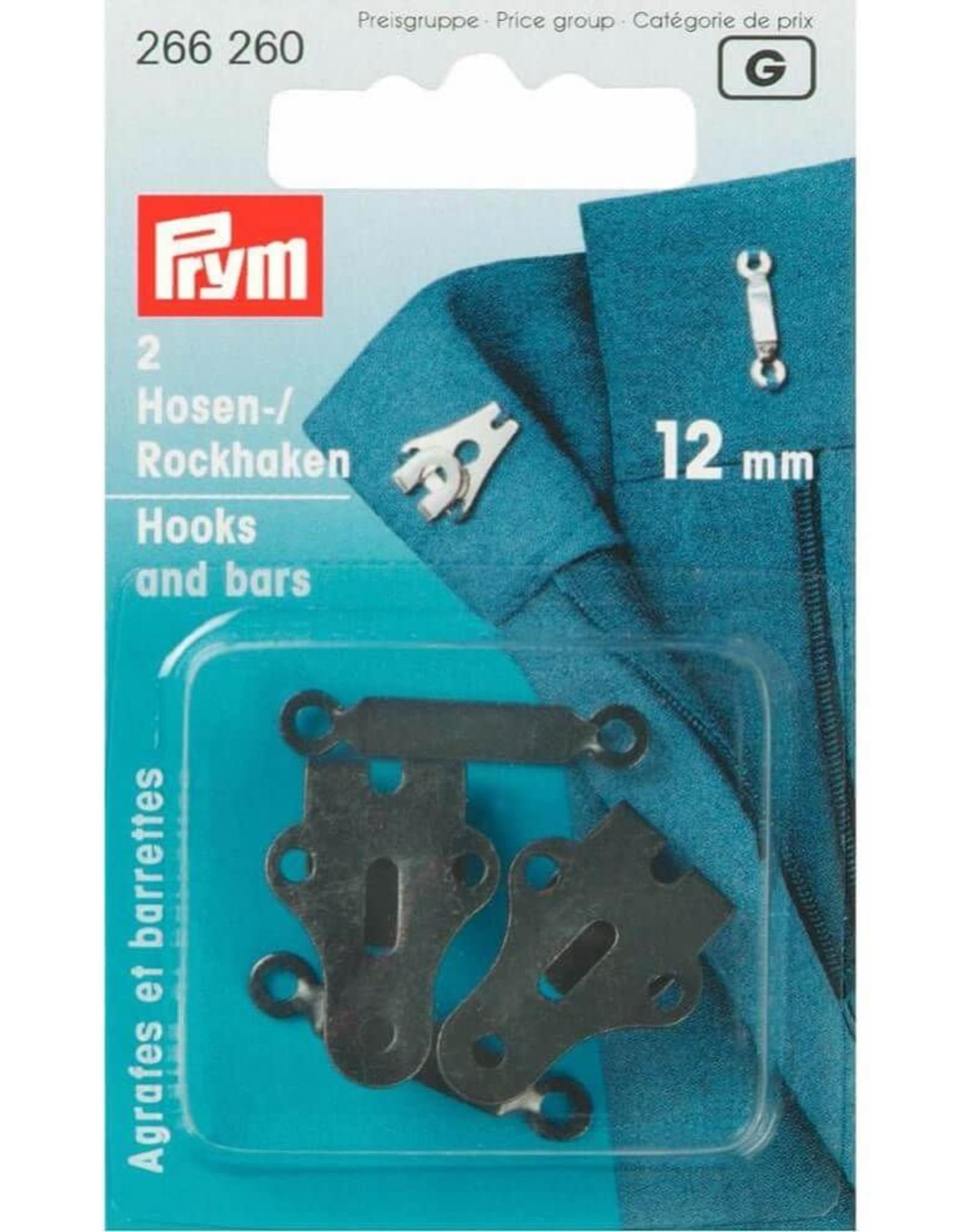 Prym Prym BROEK-EN ROKHAKEN 12mm ZWART (2st)
