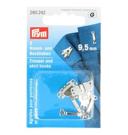 Prym Prym BROEK-EN ROKHAKEN 9.5mm ZILVER (3st)
