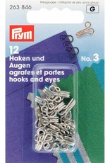 Prym Prym HAKEN & OGEN MESSING n°3 ZILVER (12st)