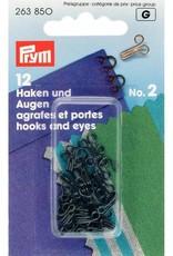 Prym Prym HAKEN & OGEN nr 2 ZWART (12st)