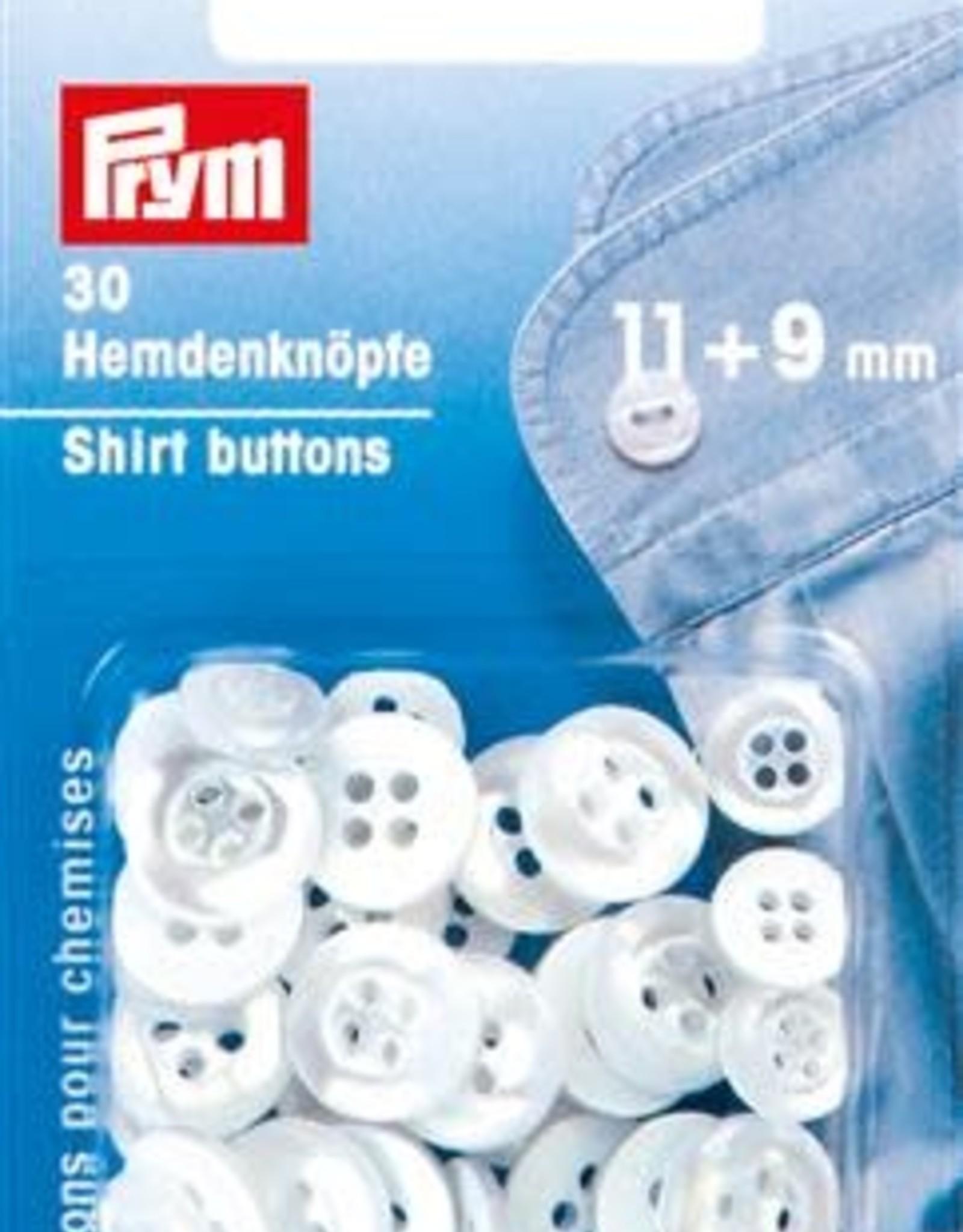 Prym Prym KNOPEN VOOR HEMDEN 4 GAATJES 11+9mm (30st)