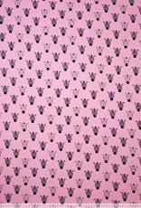 Polytex Polytex Ilja jersey Zebra roze glitter