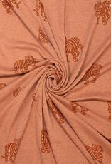 Fibre Mood Fibre Mood sweater jacquard tijger bruin Minnie