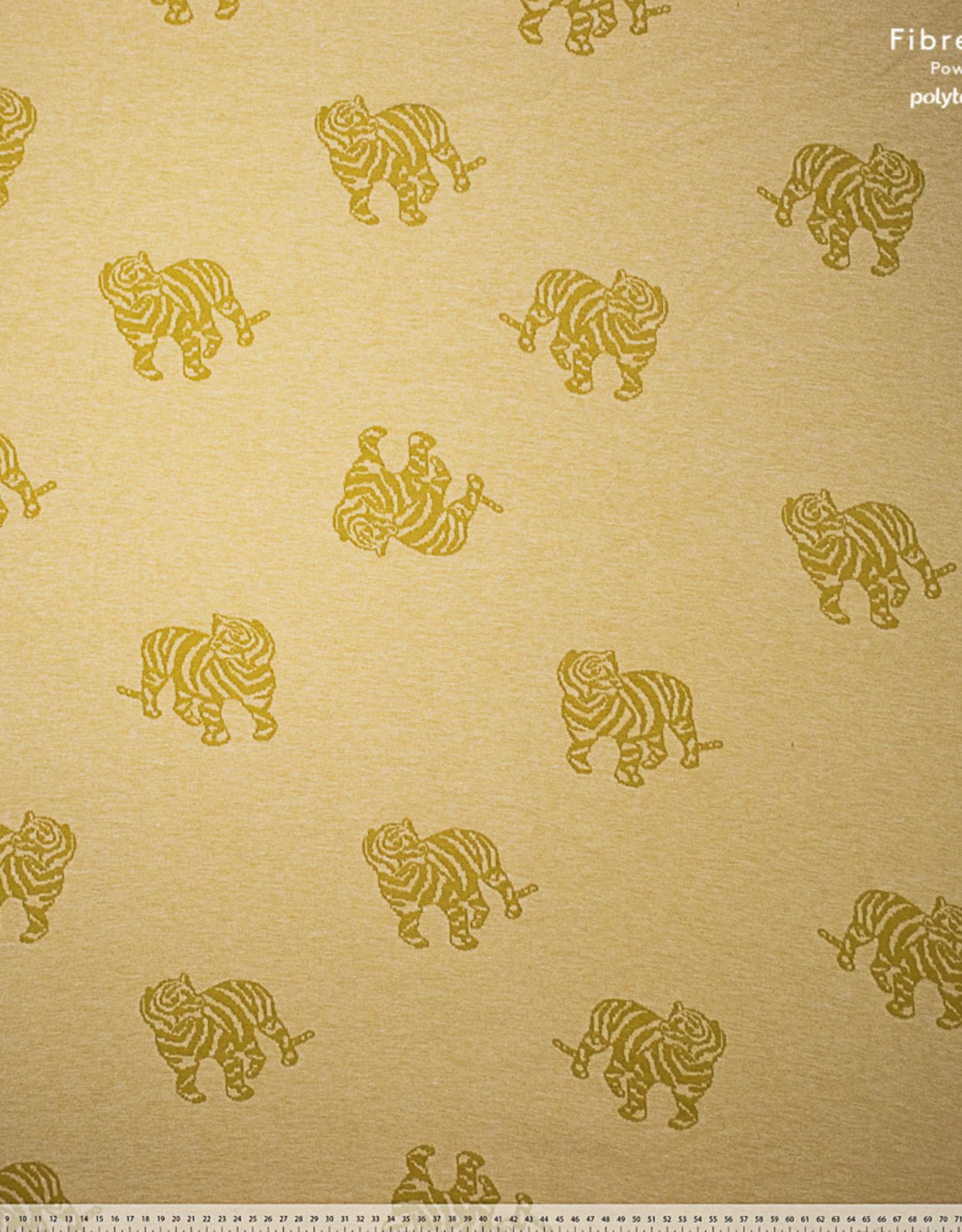 Fibre Mood Fibre Mood sweater jacquard tijger geel Minnie