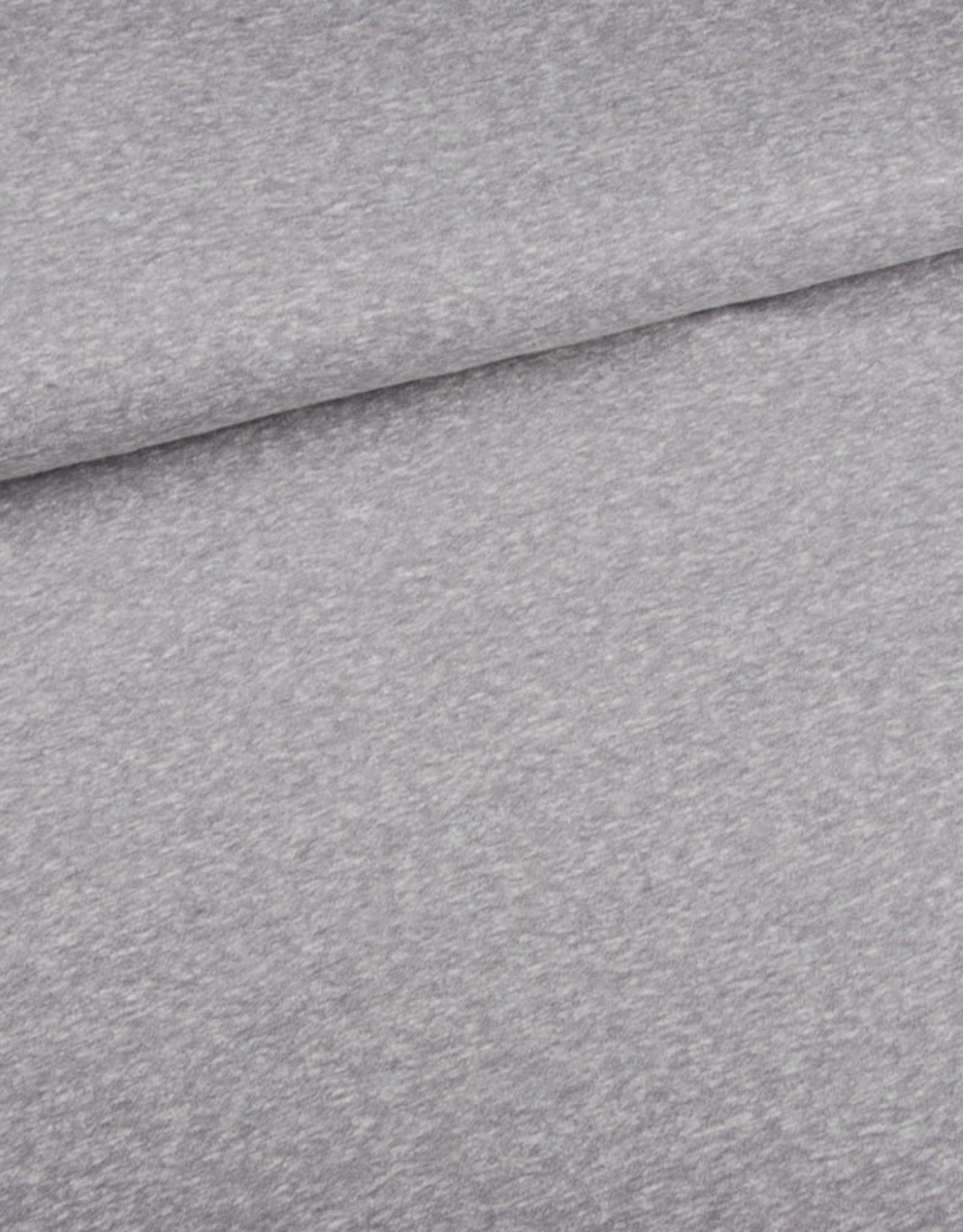 Editex Fabrics Editex Signature Jersey lichtgrijs met krijtstreepjes horizontaal