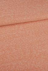 Editex Fabrics Editex Signature Jersey zalm met krijtstreepjes horizontaal