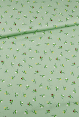 Editex Fabrics Editex signature Viscose groen met fijne bloempjes