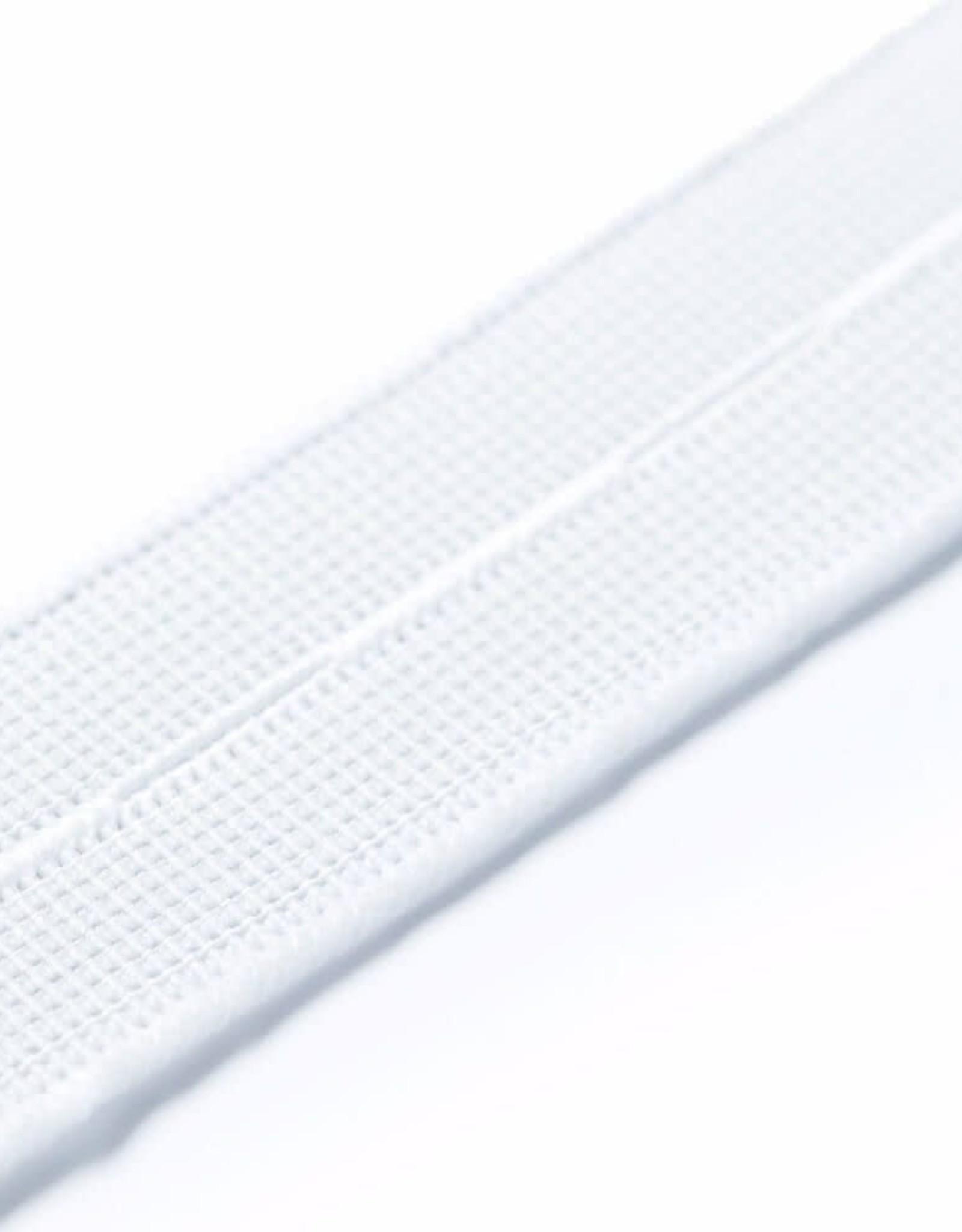 Prym Prym Knoopsgatenelastiek 18 mm wit 1 m op kaartje
