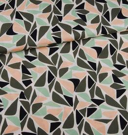 Editex Fabrics Editex Signature Viscose soepelvallend groen,zwart, zalm, pastelgroen en ecru