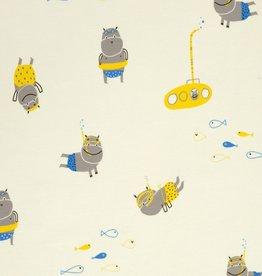 Katia Katia Fabrics Jersey Hippo's Diving J24