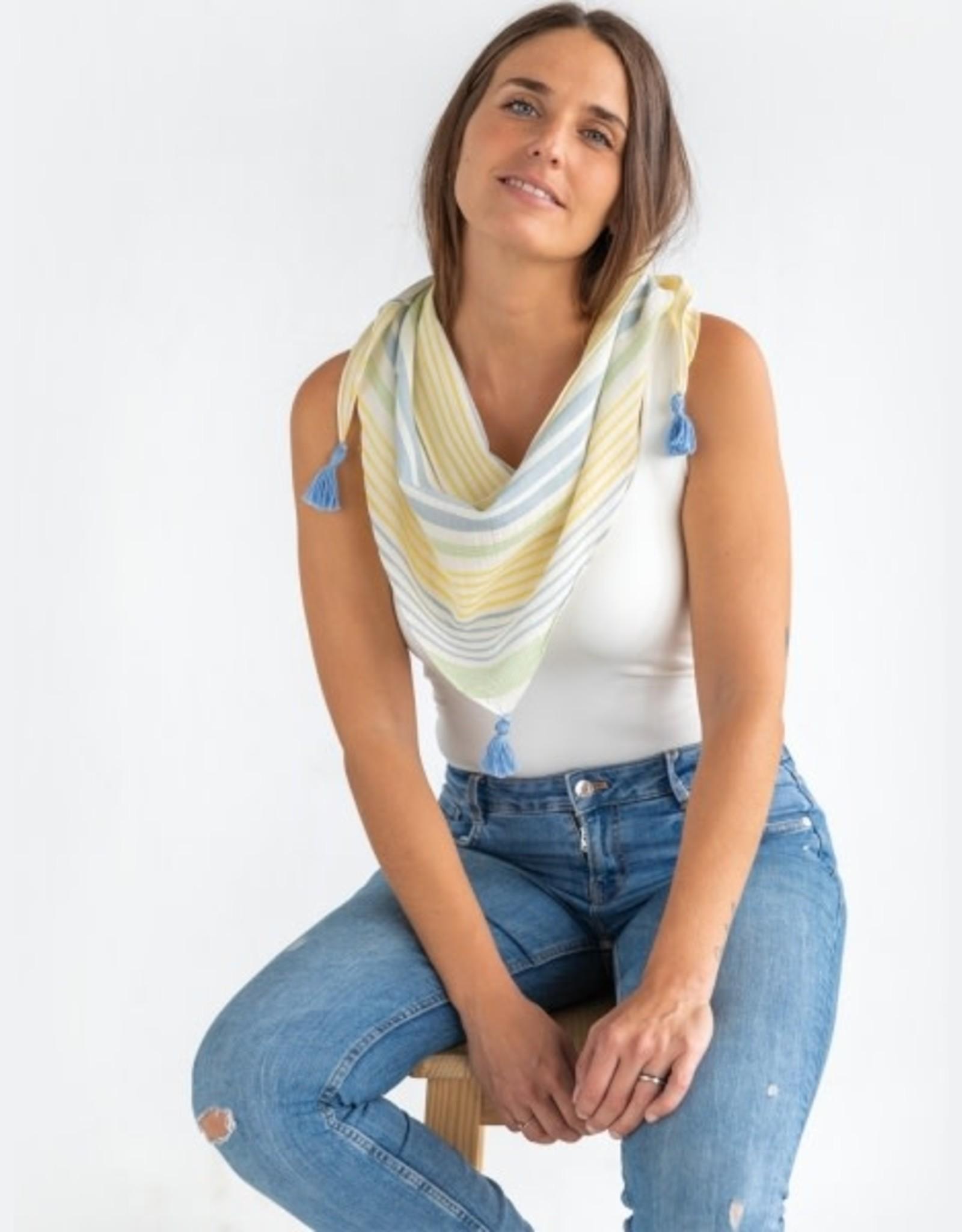 Katia Katia Fabrics Panama Stripes Green PS 1