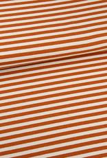 Editex Fabrics Editex Signature jersey streep bruin/  wit
