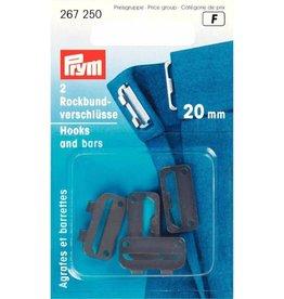 Prym Prym ROKHAKEN 20mm ZWART (2st)
