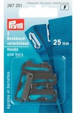 Prym Prym ROKHAKEN 25mm ZWART (2st)