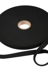 band elastiek zacht zwart 2.5 cm