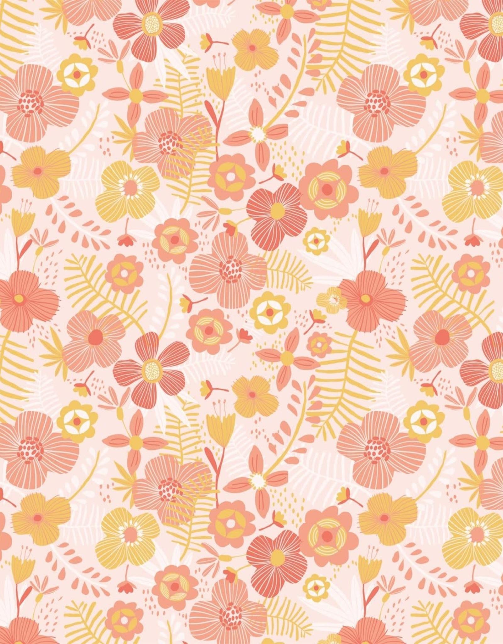 Katia Katia Fabrics Katoen Jumbo Flowers P 96