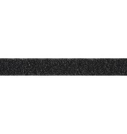 Velcro zwart 2 cm breed, naaibaar, lusjes