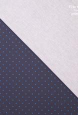 Fibre Mood Fibre Mood ed 14 Woven elastisch donkerblauwe achtergrond met blauwe ster 8mm Rupert
