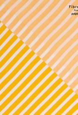 Fibre Mood Fibre Mood editie 14 Woven viscose crepe stripes geel en wit Aila