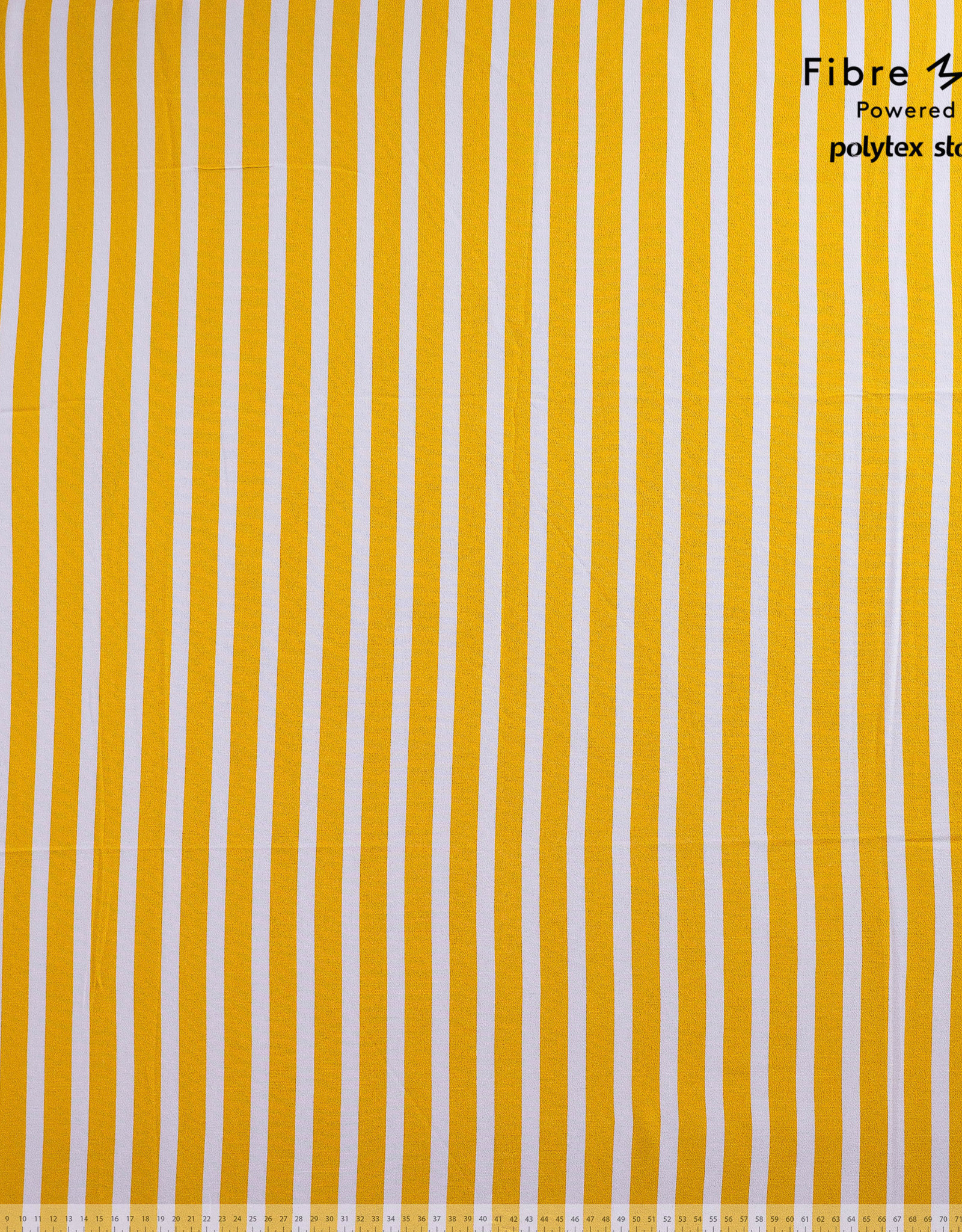 Fibre Mood Fibre Mood ed 14 Woven viscose crepe stripes geel en wit Aila