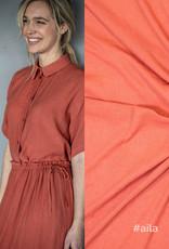 Fibre Mood Fibre Mood editie 14 Woven viscose Pleated Oranje Bloom en Aila