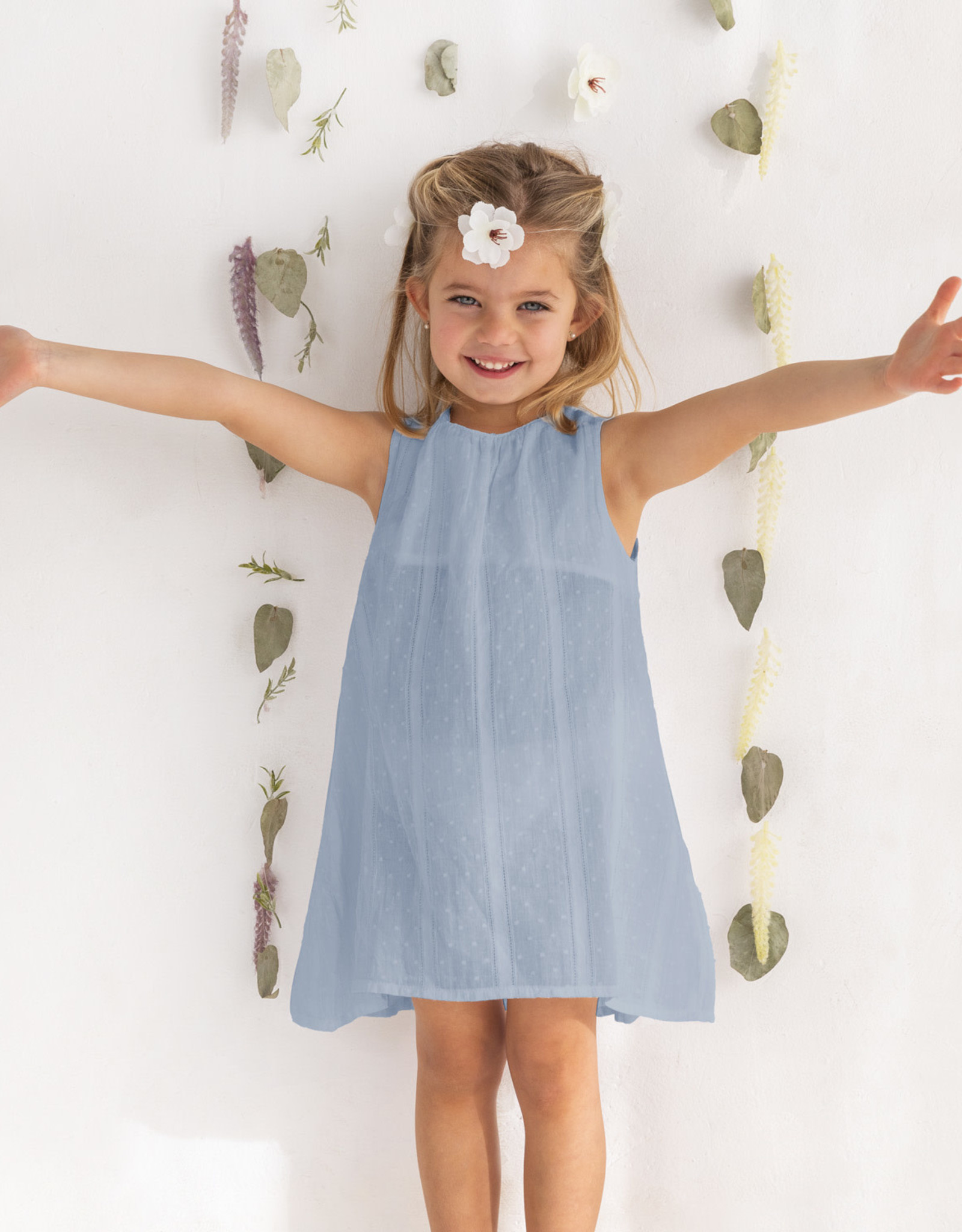 Katia Katia Fabrics Plumeti vintage solid pvs4 licht blauw