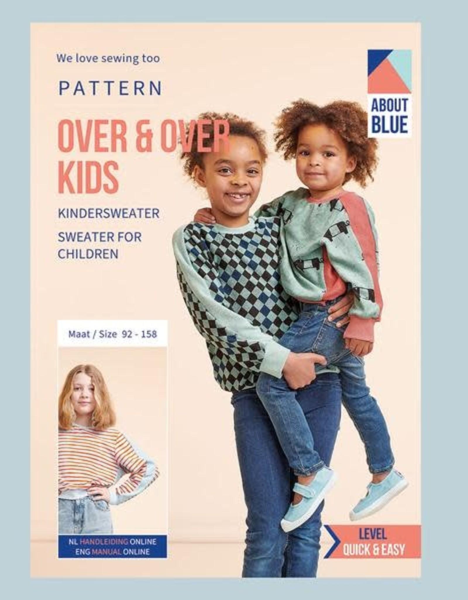 About Blue About Blue papieren naaipatroon over en over sweater kinderen