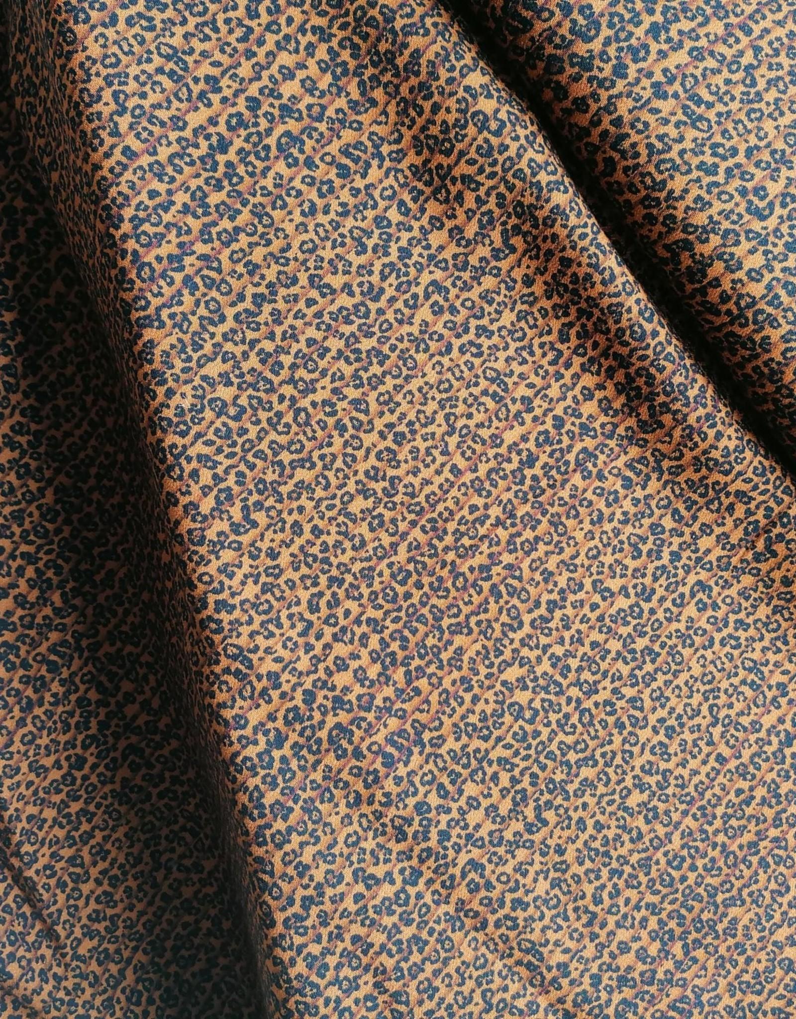 Editex Fabrics Editex Signature viscose (nep) plissé look donkeroker zwart
