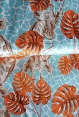 Editex Fabrics Editex Signature satijn leafs giraf