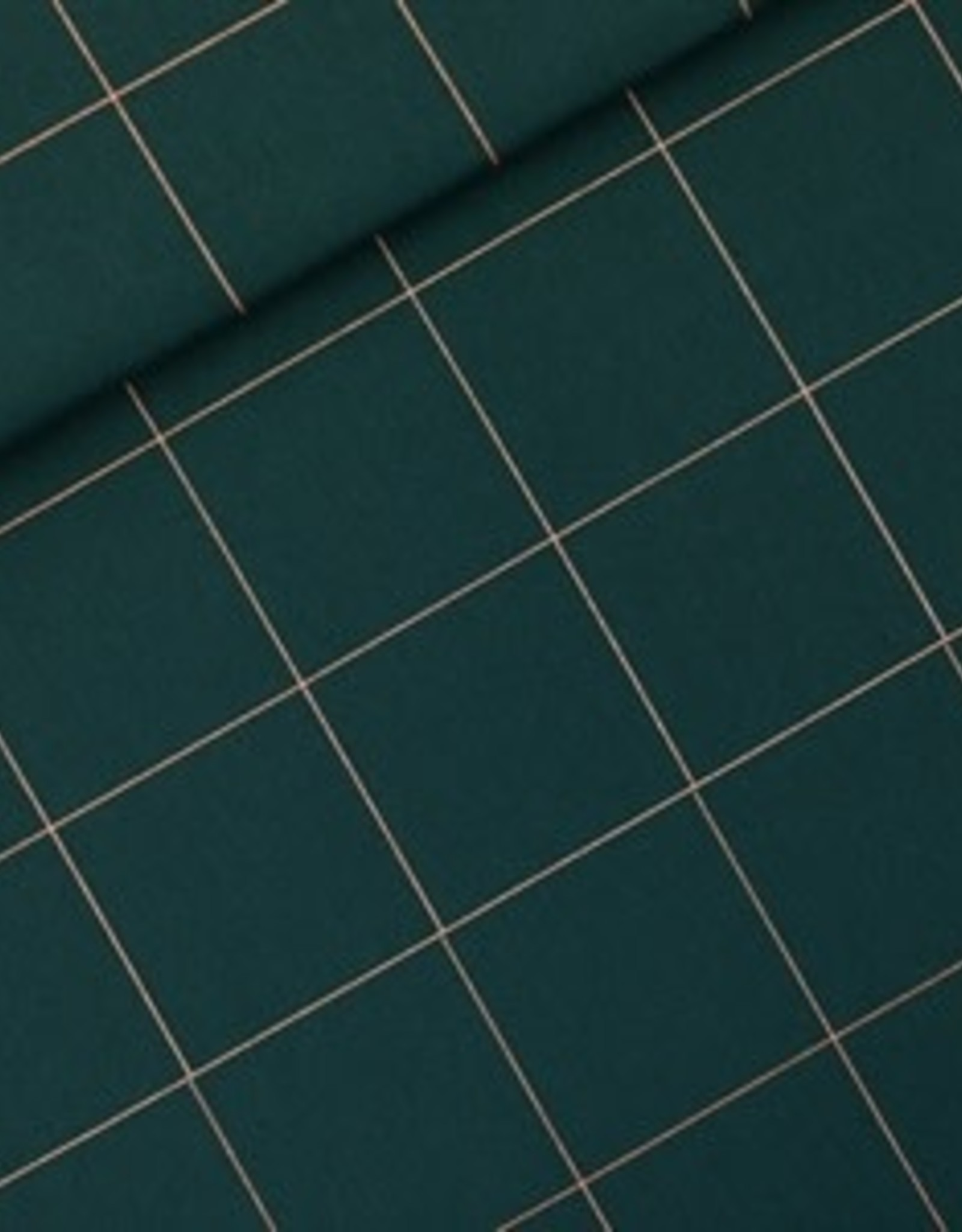 See You At Six See you at six Gabardine Twill- katoen canvas Thin Grid - Green Gables