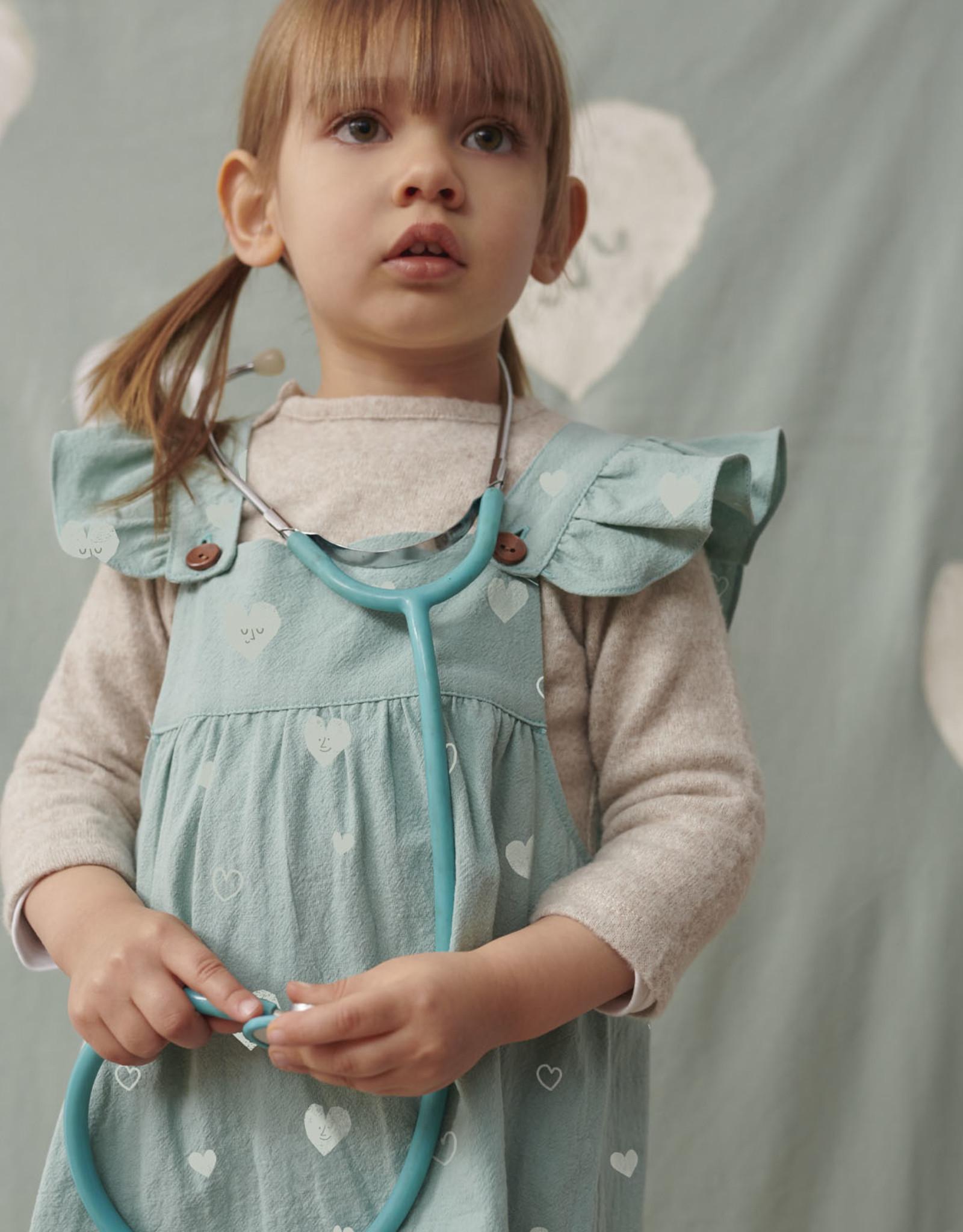 Katia Katia Fabrics Rustic Cotton Hearts Aqua RC7